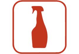 Support pour bouteille jetable (acier chromé)